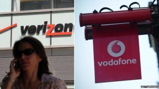 Vodafone and Verizone Wireless exteriors