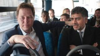Nick Clegg and James Caan