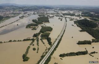 Flooding at Deggendorf, Germany, 5 June