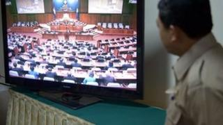 Watching national assembly in parliament