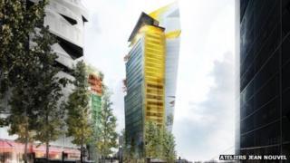 A proposed skyscraper design for Paris