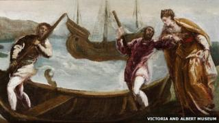 The Embarkation of St Helena in the Holy Land by Jacopo Tintoretto (detail)