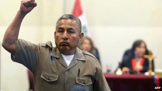 Florindo Flores raises a fist as he is sentenced. 7 June 2013