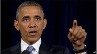 US President Barack Obama in San Jose, California 7 June 2013