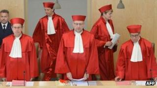 Judges at the German Constitutional Court in Karlsruhe
