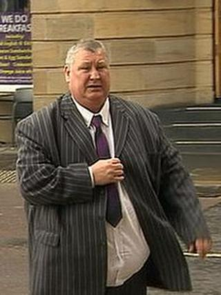 Dave McLuckie arriving at Newcastle Crown Court