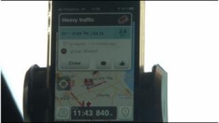 Waze on a smartphone