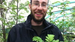 Neil Davidson holds Catacol Whitebeam cutting