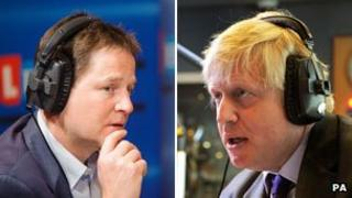 Nick Clegg and Boris Johnson composite