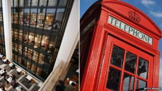 British Library and red phone box