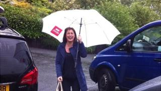 Donna Traynor is well prepared for whatever is thrown at her - including the weather