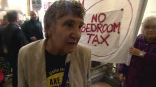 Protestor Bridget Parsons