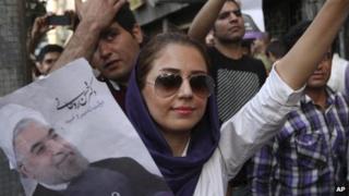 Iranians celebrate in Tehran, 15 June