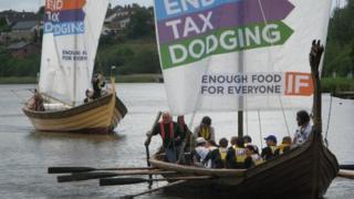 Flotilla protest