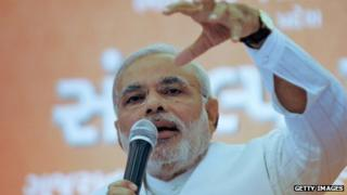 Gujarat Chief Minister Narendra Modi is leading the BJP's poll campaign strategy