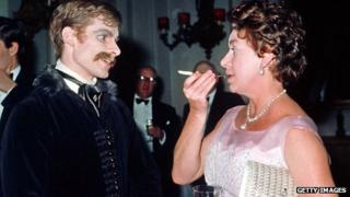 David Wall speaks to Princess Margaret after the Royal Ballet premiere of Mayerling in 1978