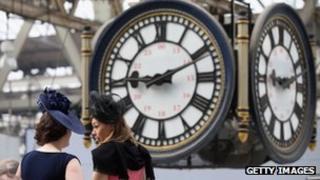 Clock at Waterloo train station