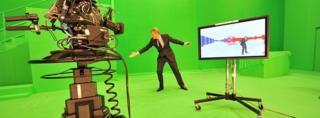 Jeremy Vine in the BBC's 2010 election studio