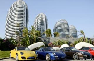 Cars parked in Hainan