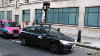 Street View car in London