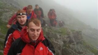 Aberglaslyn Mountain Rescue Team in the search for the lost walker