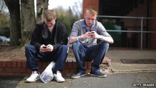 Youths in Corby, unemployment capital of England, April 2013