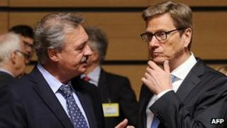 EU foreign ministers in Luxembourg, 25 Jun 13