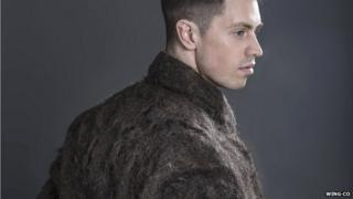 Coat made out of male chest hair