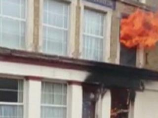 Video of the fire at a block of flats in Richmond Street, Sheerness