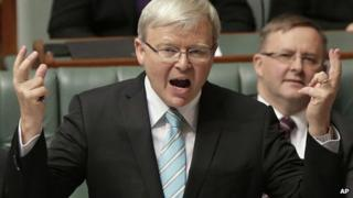 Kevin Rudd in parliament on 27 June 2013