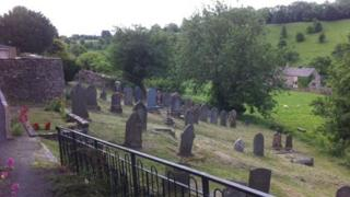 The graveyard at Naunton Baptist Church