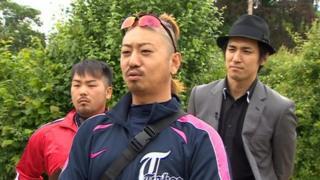 Japanese egg throwing team