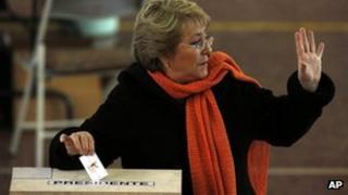 Former president Michelle Bachelet