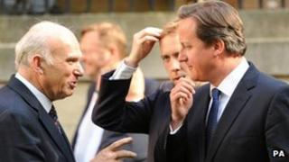 Vince Cable and David Cameron