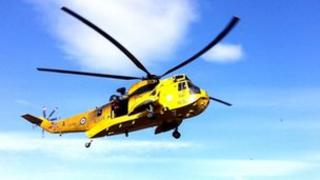 RAF helicopter