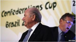 Fifa's President Joseph Blatter (left) and Secretary-General Jerome Valcke