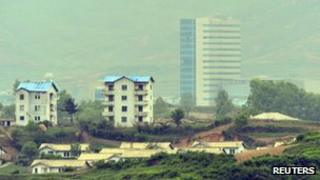 View of Kaesong industrial complex in North Korea (file image)