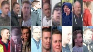 Images of men believed to be involved in Scunthorpe United incident