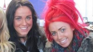 Vicky Pattison (left) and Holly Hagan from Geordie Shore