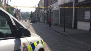 Oldham stabbing scene