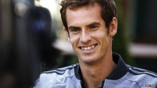 Andy Murray is interviewed the morning after his win