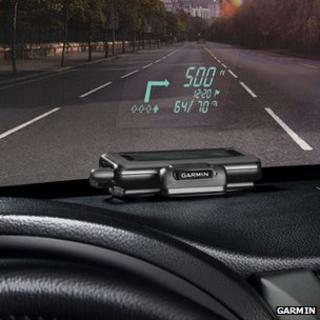 Garmin car HUD