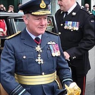 Guernsey's Lieutenant Governor Peter Walker