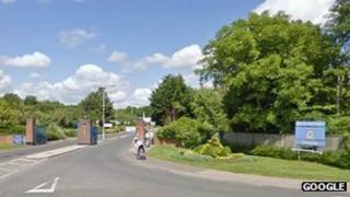 The former RAF Lyneham site in Wiltshire
