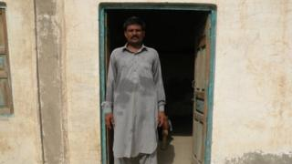 Mohammad Arif Ali, the younger of the Ali brothers, at the abandoned family house in Khwawar Kalan village, Darya Khan