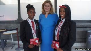 Joyce and Angel with Sarah Brown