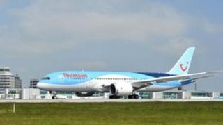 Thomson Airways Boeing 787 Dreamliner at Manchester Airport