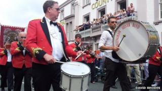Bands at the Durham Miners' Gala