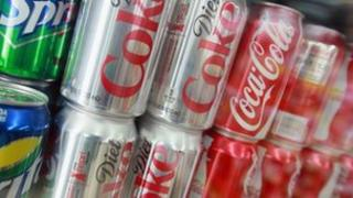 cans of fizzy drinks
