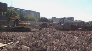 Business district building site